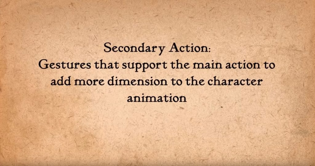 Secondary action is also one of important principles of animation, no matter whether you are working on a movie or in gamedev.
